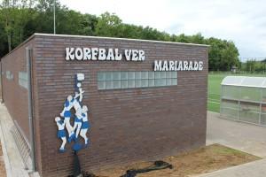 De nieuwe kleedlokalen van korfbalvereniging Mariarade